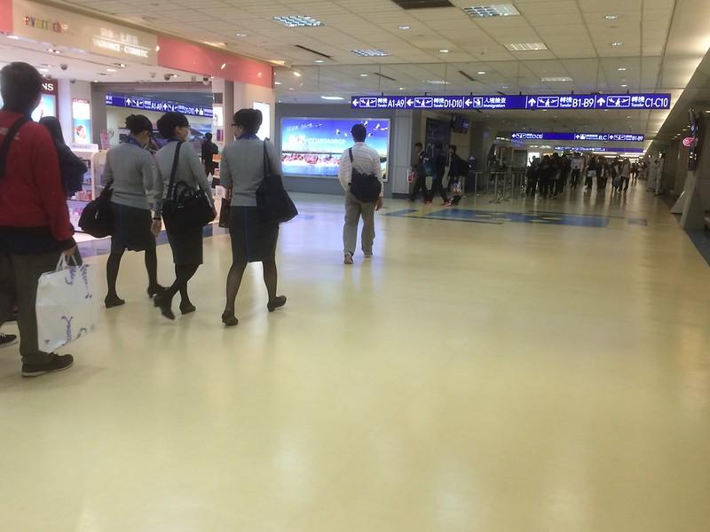 台湾桃園国際空港に到着