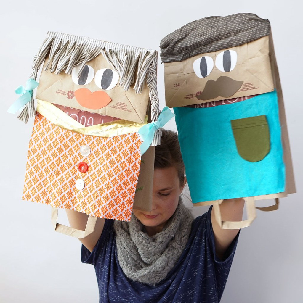 Giant Paper Bag Puppets