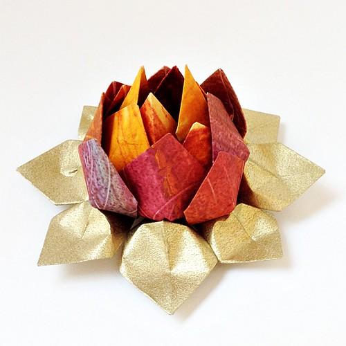 Paste Paper Lotus Flower