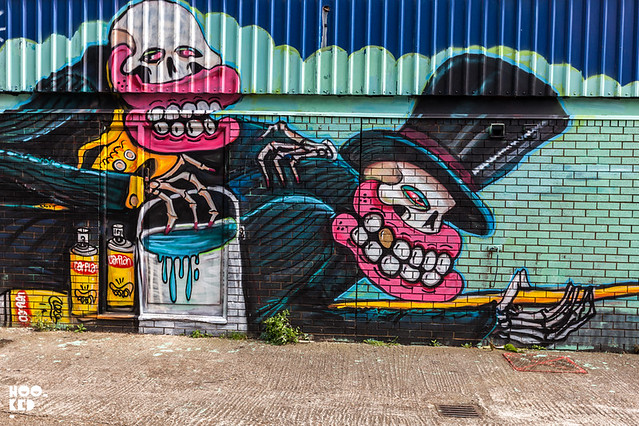 Street Art Mural in Hackney Wick, London by UK Street Artist Sweet Toof