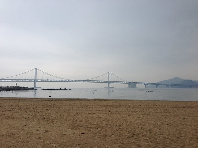 Gwangan Bridge from the beach