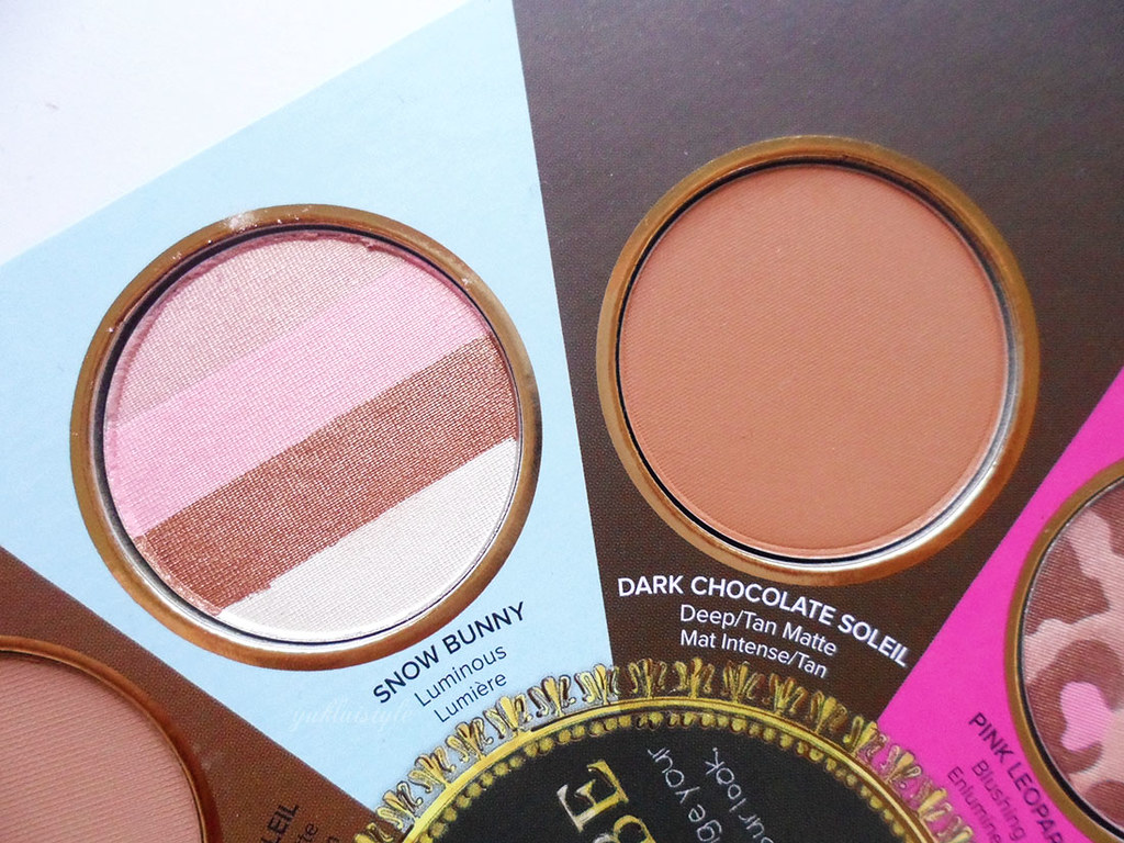 Too Faced The Little Black Book of Bronzers review snow bunny dark chocolate soleil