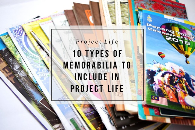 10 types of memorabilia to include in Project Life | Amelia Writes