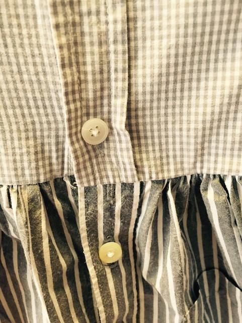 shirt-shirtdress rebuttonholing
