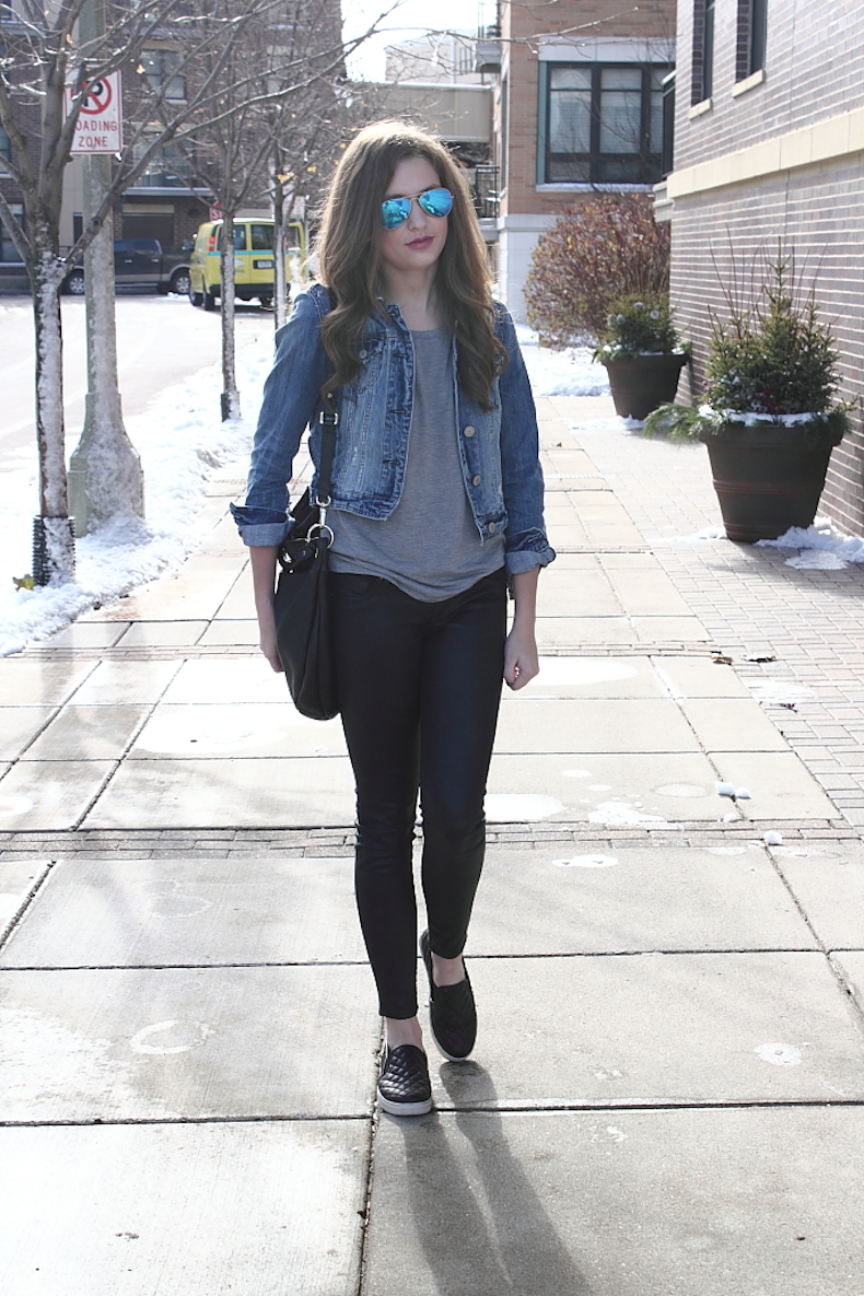 black-coated-jeans-outfit-idea