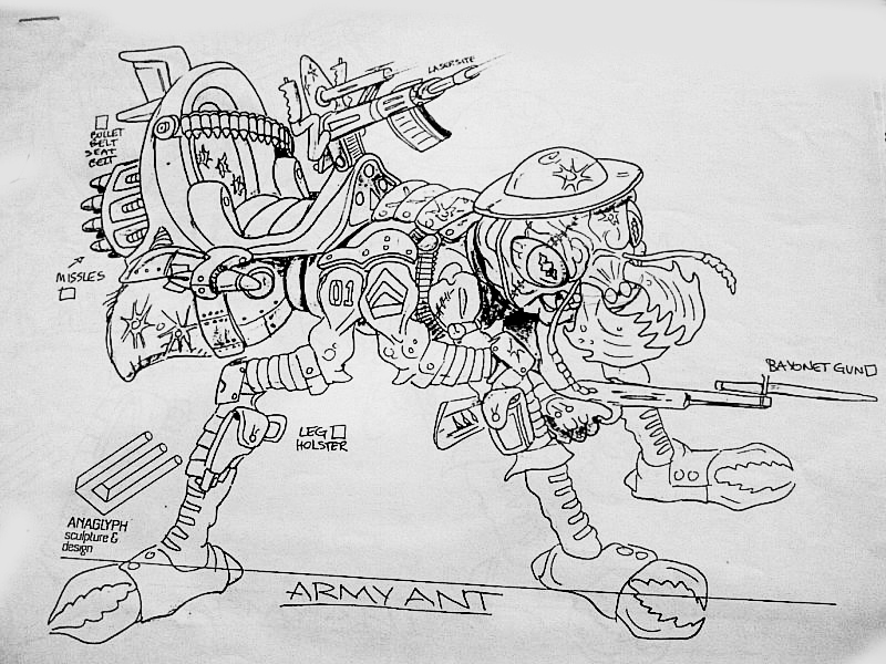 "tumblr_nlnoouQ8AR""MEGA MUTANTS"" TEENAGE MUTANT NINJA TURTLES :: ""ARMY ANT"" / ..unreleased M.M. toy - Ant design iii (( 1990 ))  [[ Art and courtesy of D. Arshawsky ]]"