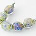 Green Garden Lampwork Beads