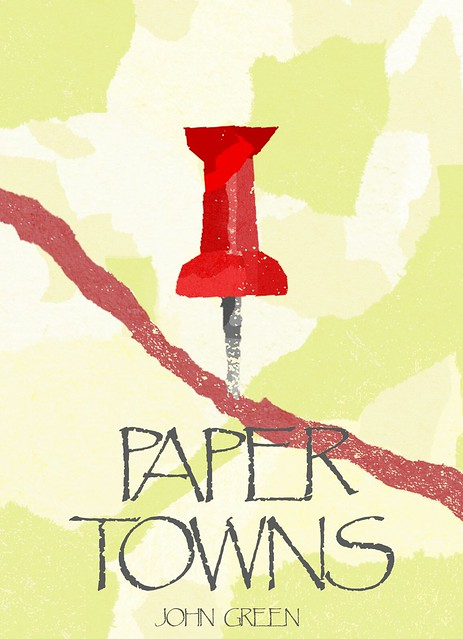 Book Cover Of Paper Towns ~ Paper towns cover design a graphic i made for my