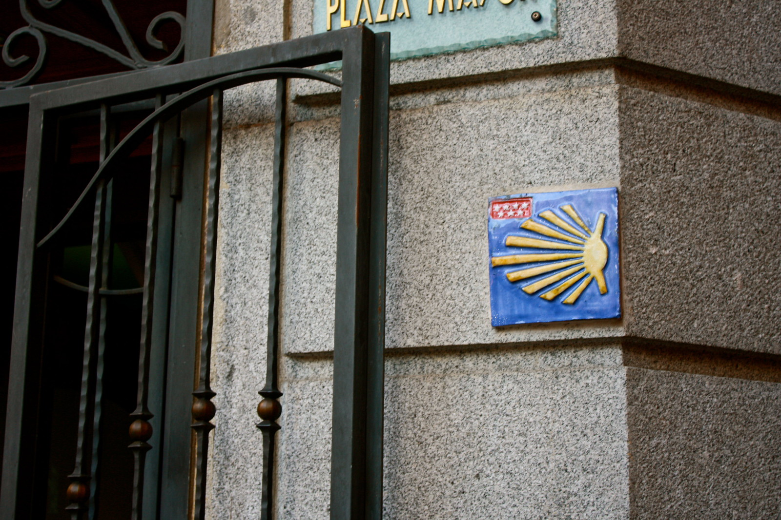 Camino de Santiago in Madrid, Spain