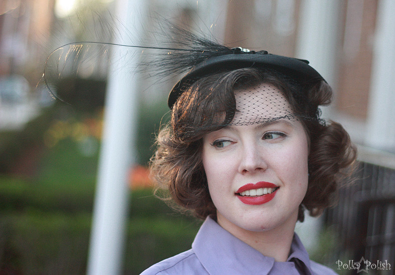 1950s hat with a very silly feather