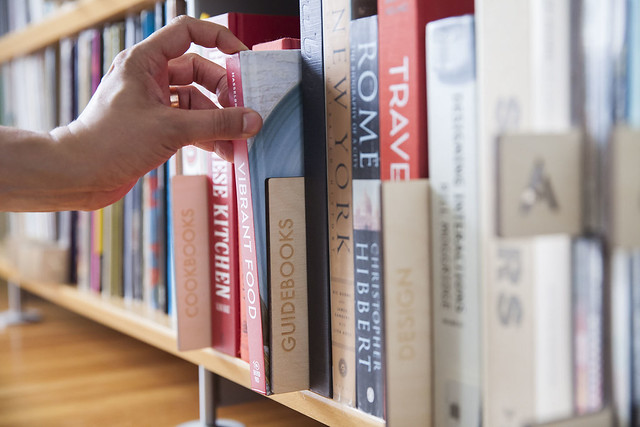 Book Dividers on a shelf