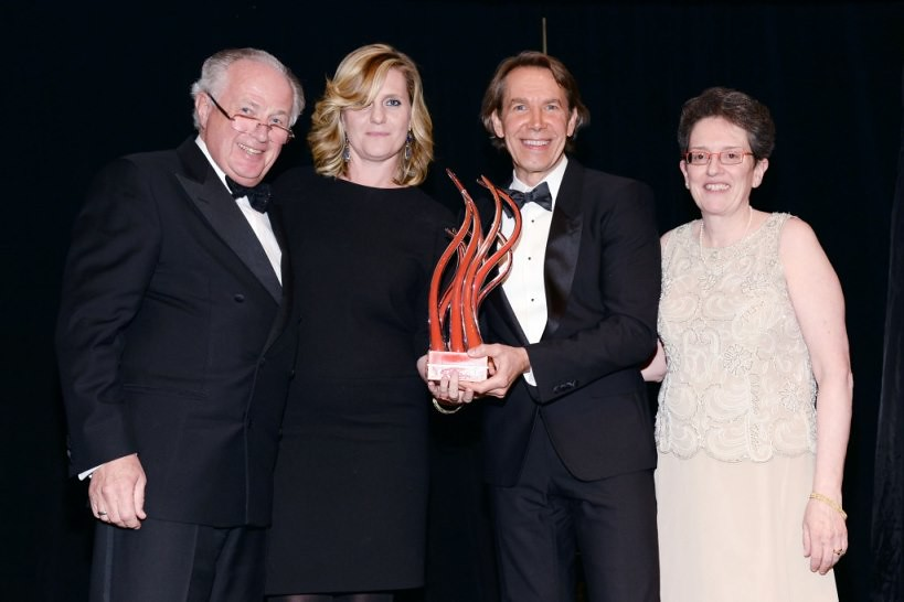 Franz Humer, Justine Koons, Jeff Koons, Maura Harty==.In International Centre for Missing & Exploited Children's Inaugural Gala for Child Protection==.Gotham Hall, NYC==.May 7, 2015==.©Patrick McMullan==.Photo - Clint Spaulding/PatrickMcMullan.c