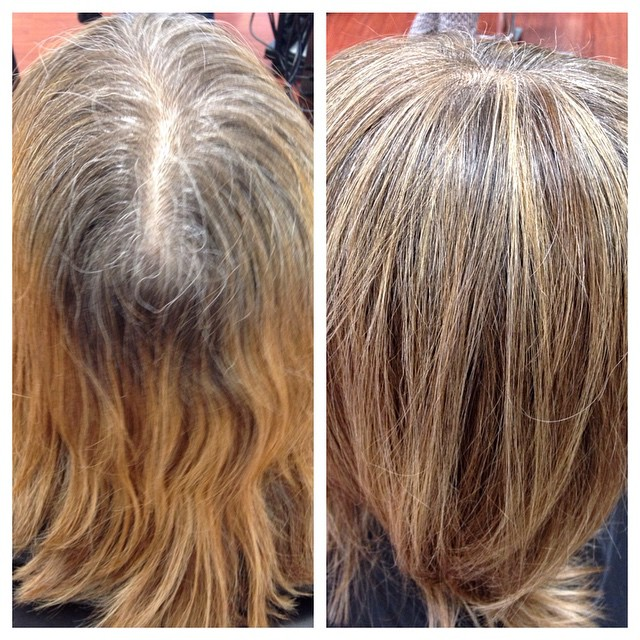 Hair By Ashley Grey Blending Done With Multi Toned Foils A