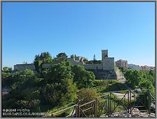 Enna מבט אל המבצר מ- Rocca di Cerere