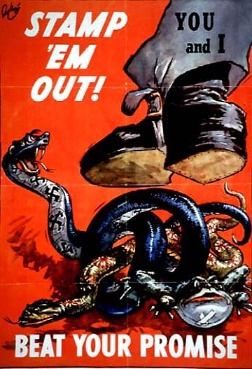 World War II Poster - Stamp 'em Out