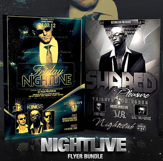 PSD Nightlive Flyer Bundle - 2in1 | by retinathemes
