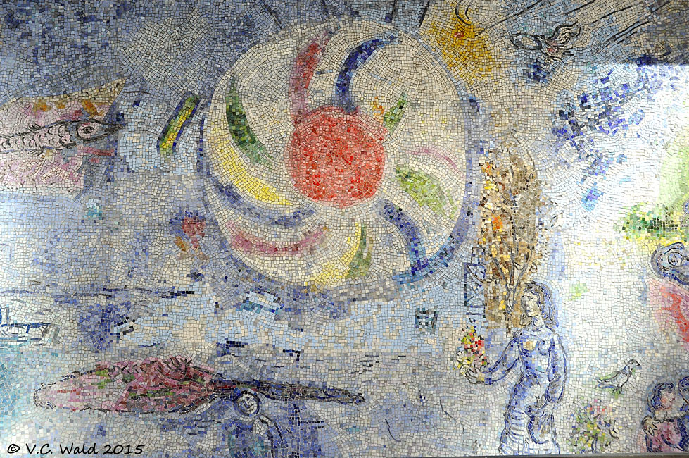 Marc chagall four seasons tile mural 14 ft x w 10 ft for 4 seasons mural