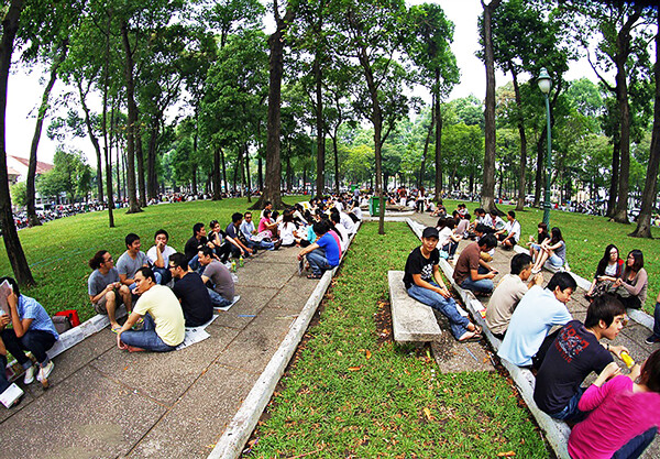 """17479585351 b80786fdb6 z - """"Bệt cafe"""" công viên 30/4"""