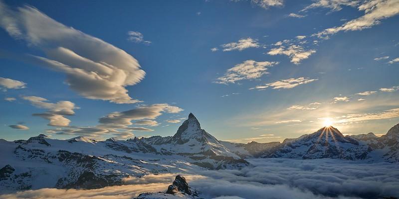 Last sun rays - Zermatt