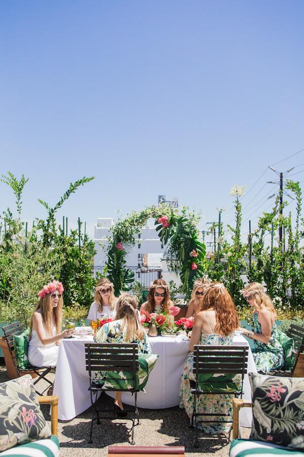 eatsleepwear, bridal-shower, palihouse, tropical, engaged, wedding, 1