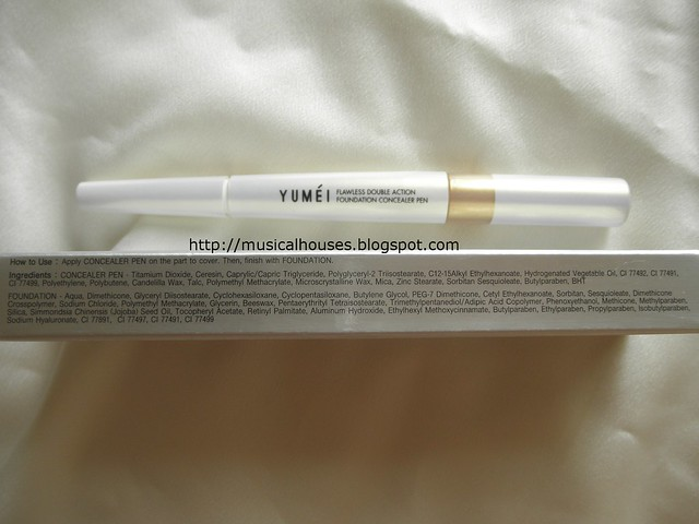 BonjourHK Yu Mei Flawless Double Action Foundation Concealer Pen Ingredients