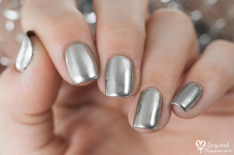 Chrome powder + China Glaze - Geláze Gel Polish