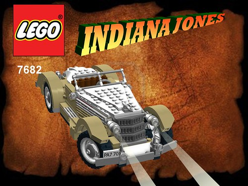 Lego Indiana Jones - Shanghai Chase Nr. 7682 recreated - Auburn 851 Boat Tail Speedster | by lego911