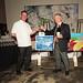 Santa Monica restaurateurs Chef Joe Miller of Bar Pintxo and Piero Selvaggio of Valentino Restaurant Group, judges in Jordan Winery's 4 on 4 Los Angeles Art Competition