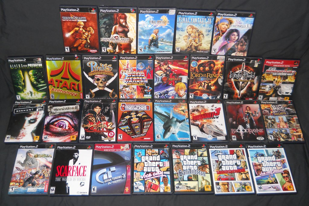 Ps2 Games All Of Them : Sony playstation my game collection these are all the