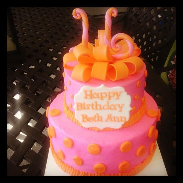 Orange And Pink Sweet 16 Birthday Cake Cake Cakedecorati