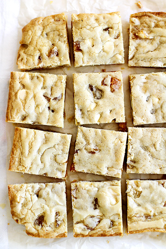 Brown Butter Apricot White Chocolate Blondies | girlversusdough.com @girlversusdough