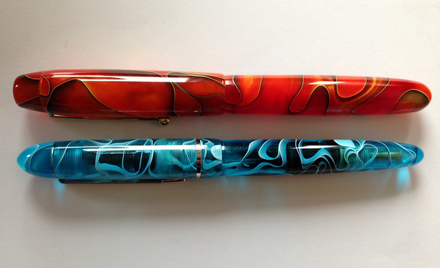 Review Edison Collier Persimmon Swirl Fountain Pen @EdisonPenCo @CouronneDuComte (3)
