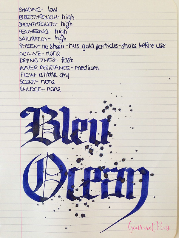 Ink Shot Review J. Herbin Bleu Ocean @BureauDirect (7)