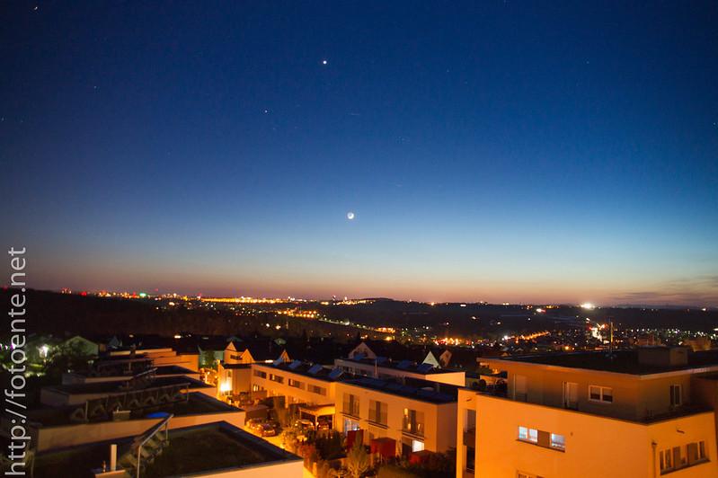Sterne,Mond und Venus