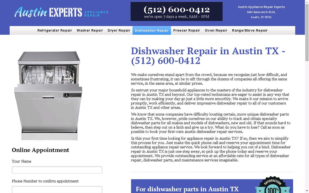 Austin Appliance Repair Experts 512 600 0412 Www