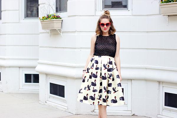 black swan midi skirt for summer