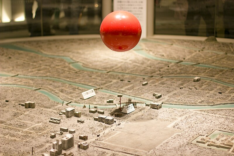 hiroshima nuclear atomic bomb display devastation city