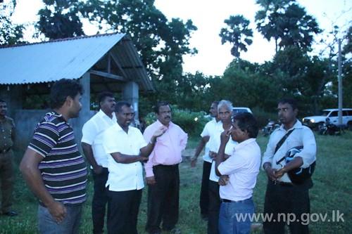 Discussion on Village Building Project at Kilinochchi Kariyalai Nagapaduvan
