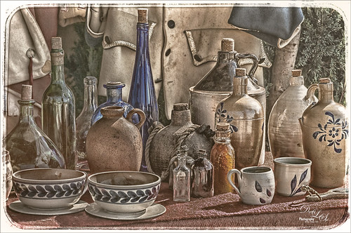 Image of Native American Pottery and Glassware