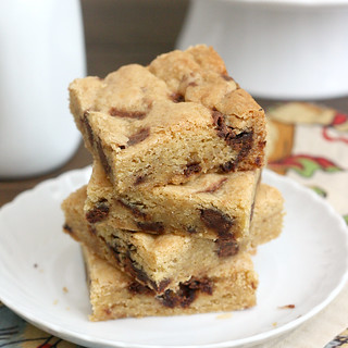 Thick and Chewy Nutella Chunk Cookie Bars | by Tracey's Culinary Adventures