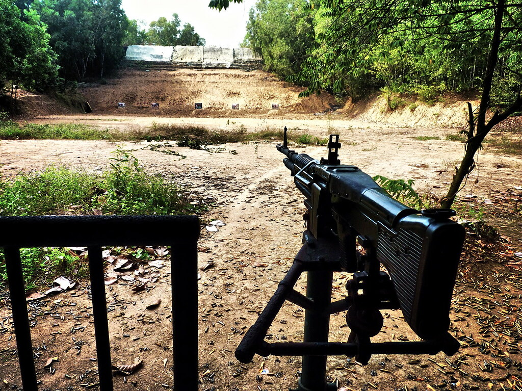 An M60 At The Củ Chi Tunnels Shooting Range Vietnam Flickr