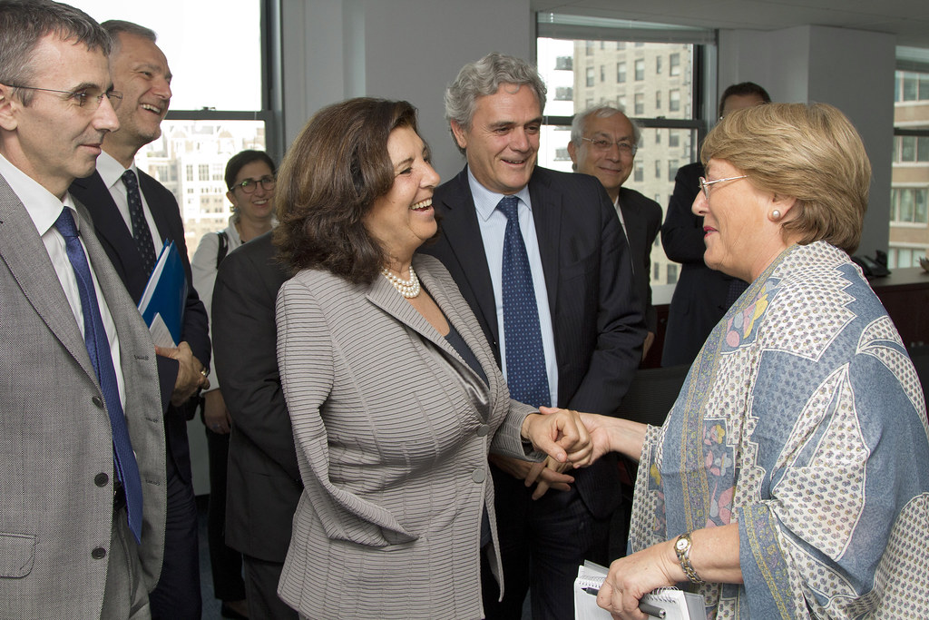 UN Women Executive Director Michelle Bachelet meets with P ...