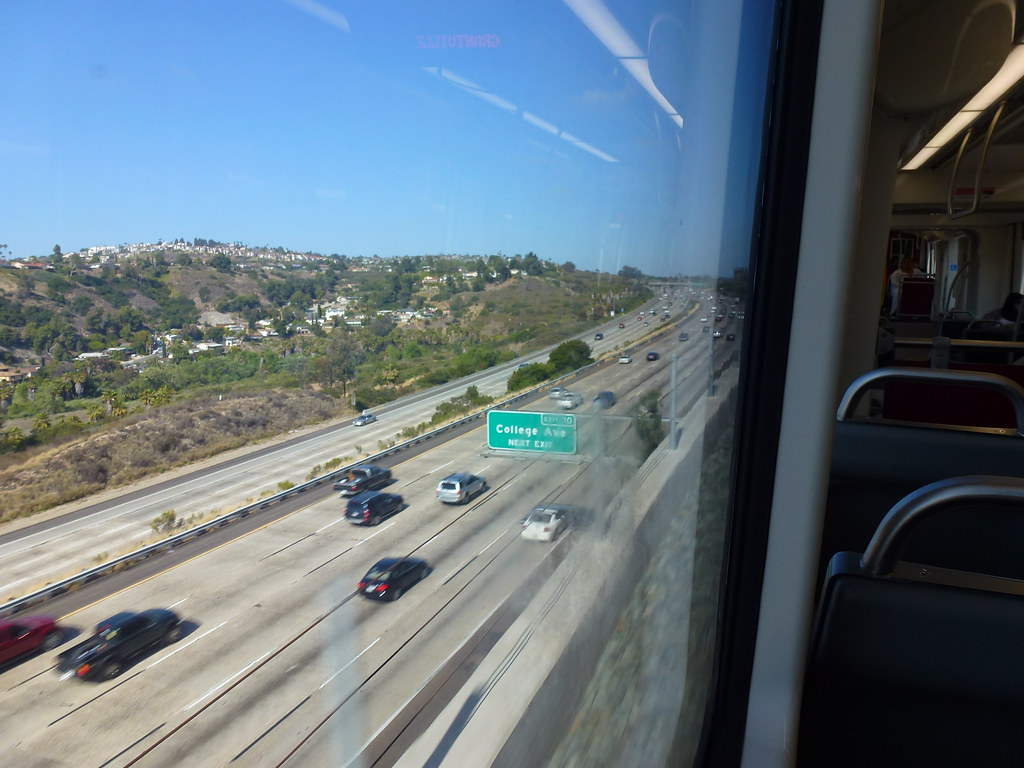 san diego ca trolley green line freeway view flickr. Black Bedroom Furniture Sets. Home Design Ideas