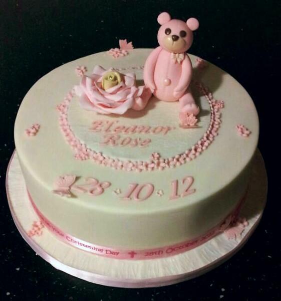 Tier Christening Cake Girl
