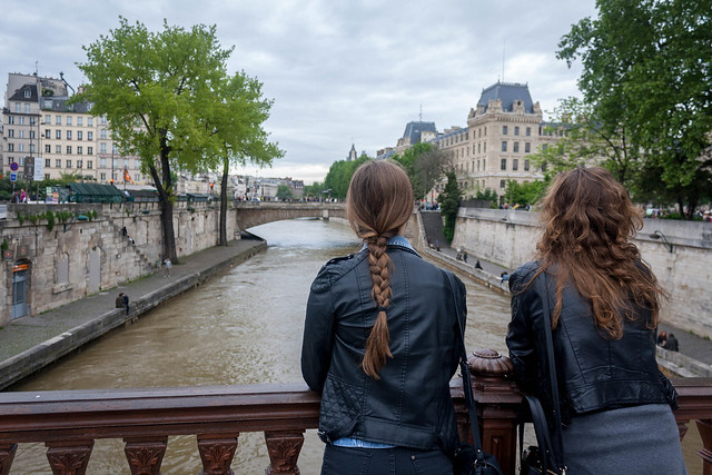 Looking over the River Seine, Paris