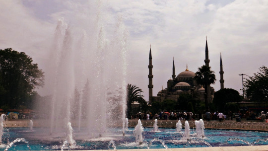 The landmark of Istanbul. Blue Mosque. BLAWG!