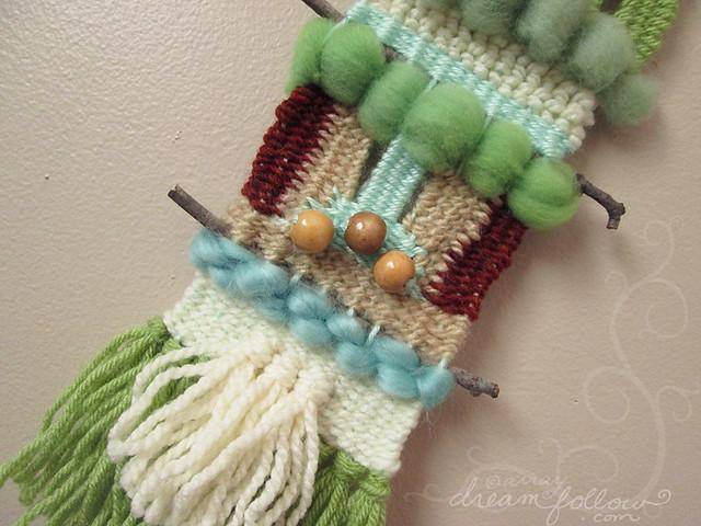 green blue weaving