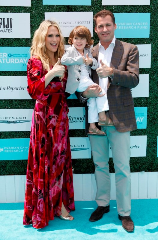 Molly Sims, Scott Stuber and Brooks Stuber