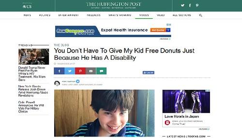 ภาพหน้าจอจากเว็บไซต์ ดิฮัฟฟิงตันส์โพสต์ แสดงรูปของแมกซ์