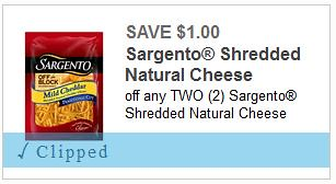 Shredded Cheese Coupon